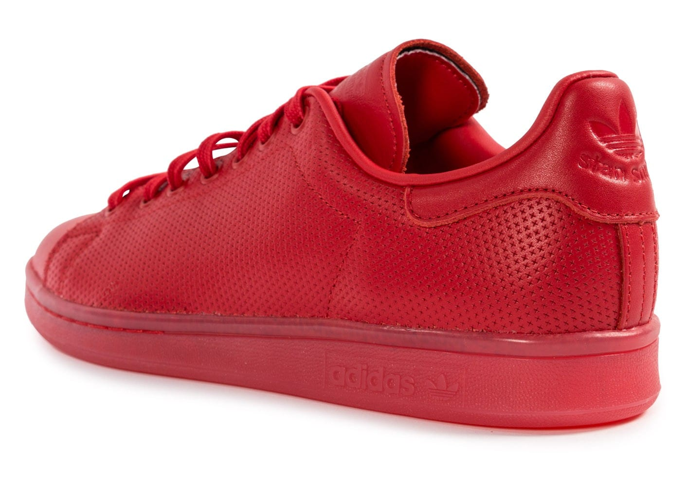 save off 93eb3 6bfc2 chaussures adidas stan smith adicolor rouge vue arriere