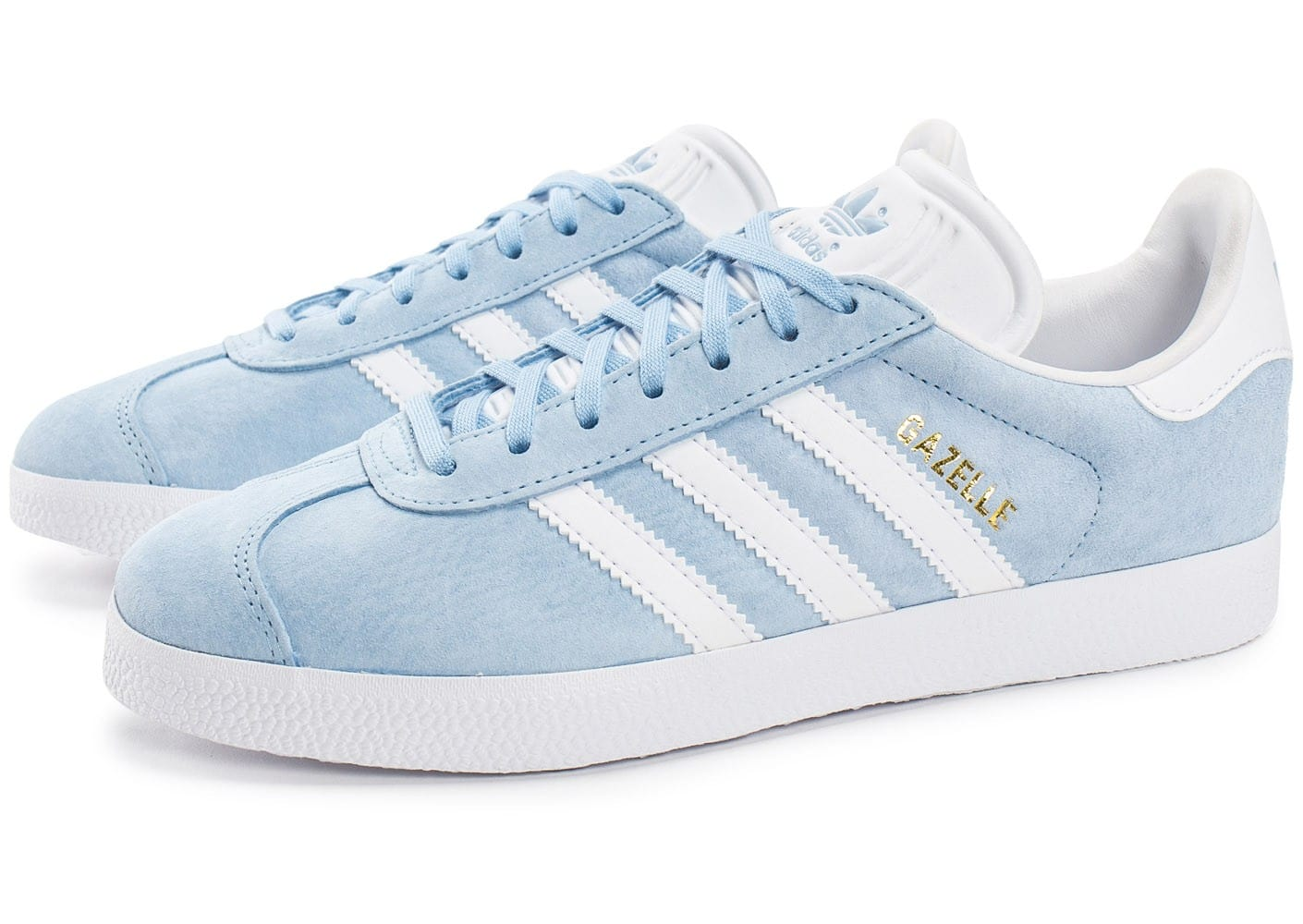 adidas gazelle blanche et bleu chaussures de. Black Bedroom Furniture Sets. Home Design Ideas