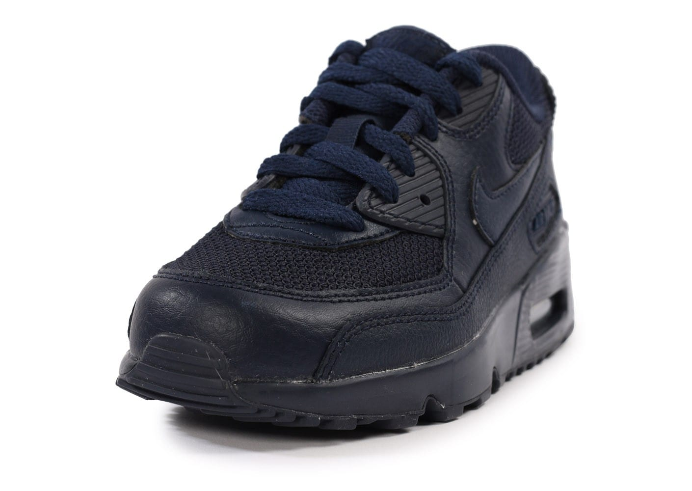 the latest 66d01 feb60 ... chaussures nike air max 90 mesh bleu marine enfant vue avant
