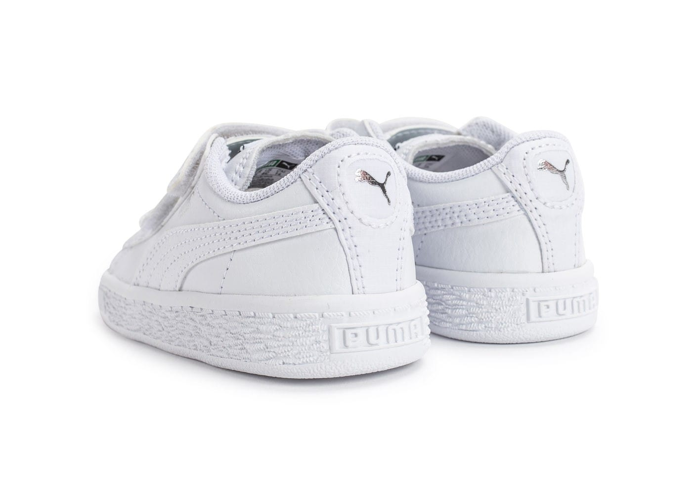 soldes puma basket b b blanche et argent chaussures. Black Bedroom Furniture Sets. Home Design Ideas
