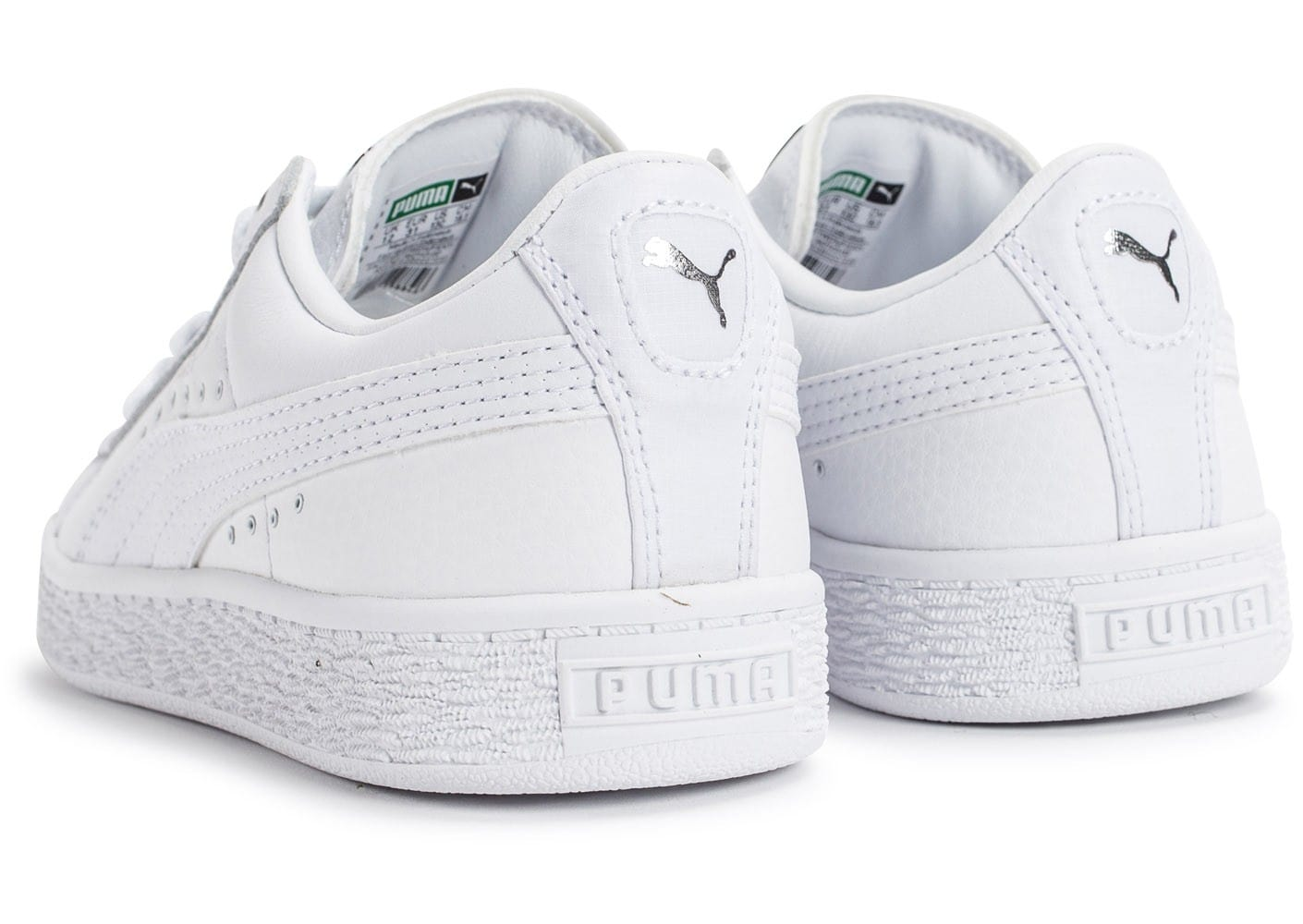 puma basket enfant blanche et argent chaussures enfant chausport. Black Bedroom Furniture Sets. Home Design Ideas