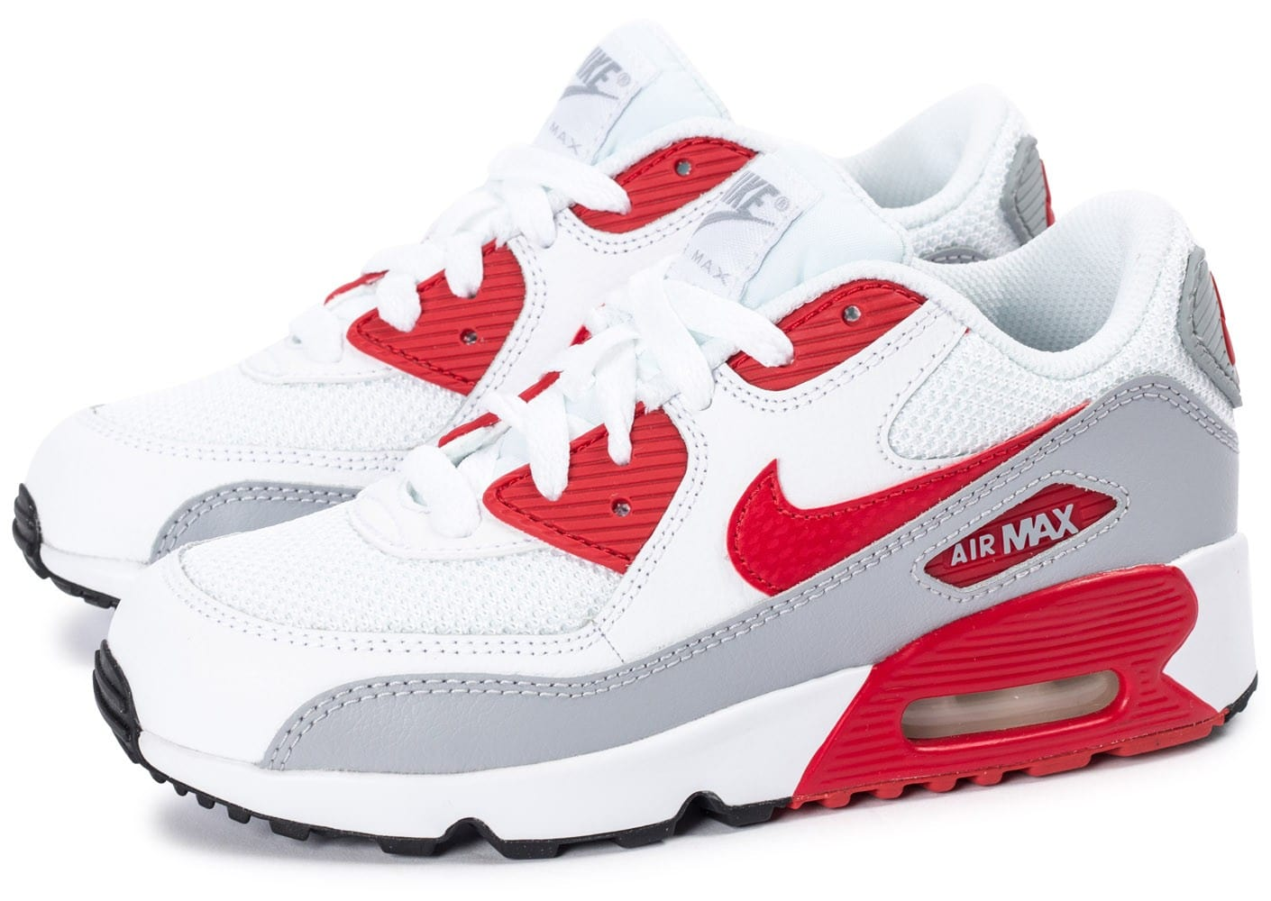 nike air max 90 mesh enfant blanche et rouge chaussures chaussures chausport. Black Bedroom Furniture Sets. Home Design Ideas