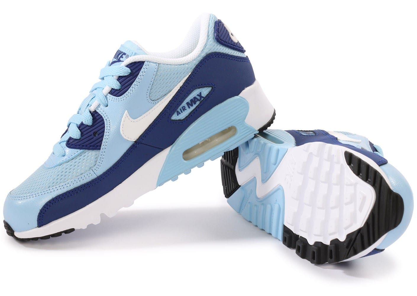 finest selection 56738 0d553 Nike Air Max 90 Blanche Bleu