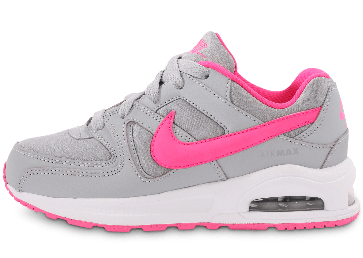 nike air max command gris et rose enfant chaussures chaussures chausport. Black Bedroom Furniture Sets. Home Design Ideas