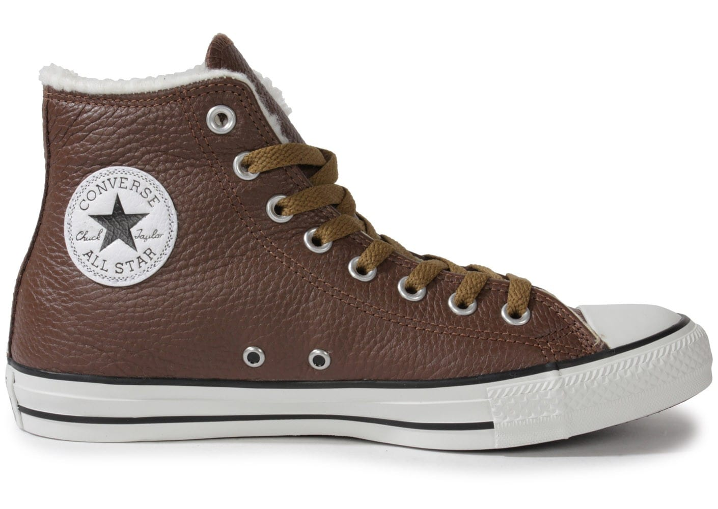 Chaussures Converse CHUCK TAYLOR ALL STAR CUIR CHOCOLAT vue dessous