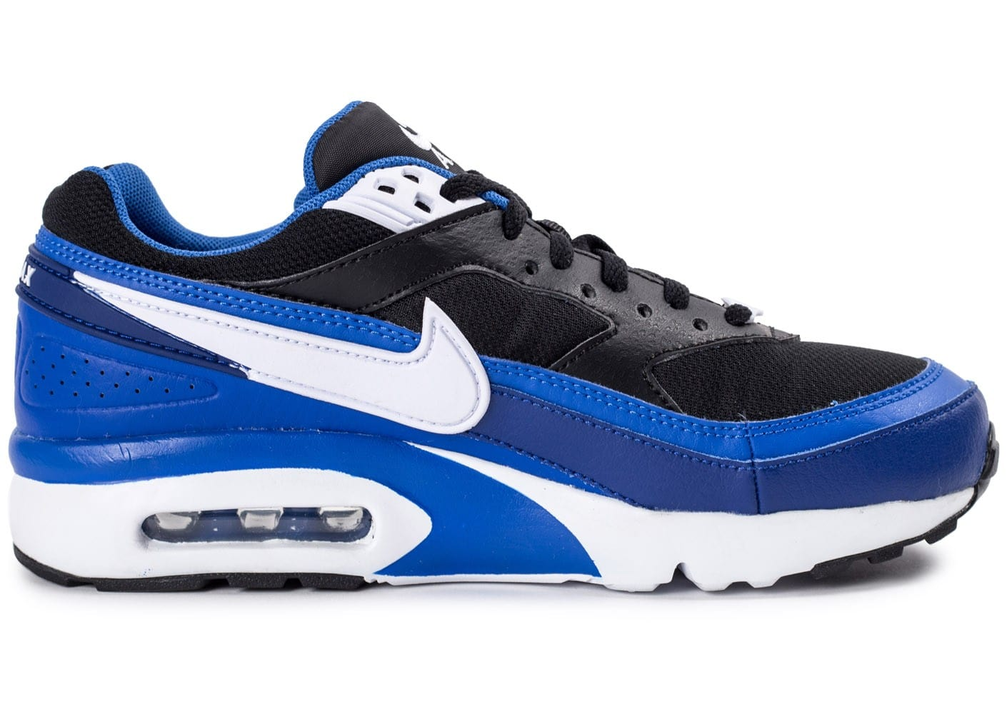 the latest be9f2 370d4 ... chaussures nike air max bw junior bleue vue interieure