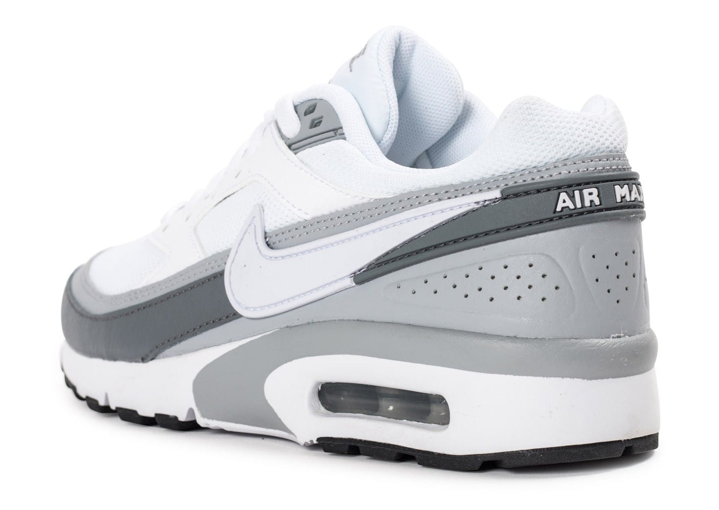 newest 6ca52 20be1 ... Chaussures Nike Air Max BW Junior blanche et grise vue arrière .