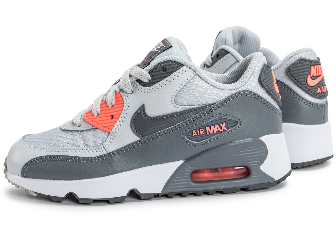 nike air max 90 se mesh enfant grise chaussures toutes les baskets sold es chausport. Black Bedroom Furniture Sets. Home Design Ideas
