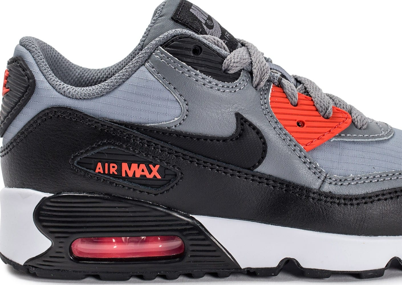 nike air max 90 mesh enfant grise chaussures enfant chausport. Black Bedroom Furniture Sets. Home Design Ideas
