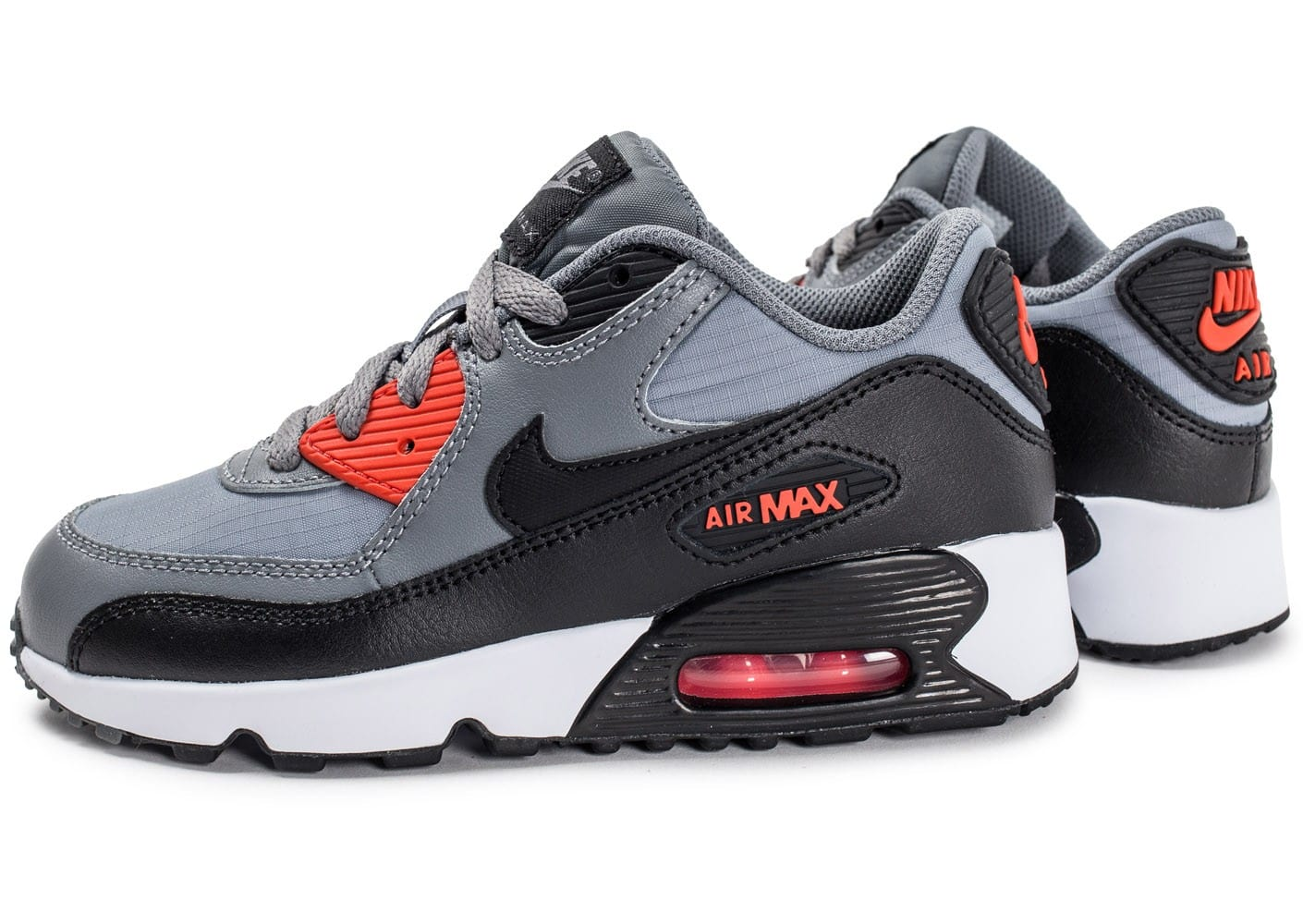 soldes nike air max 90 mesh enfant grise chaussures toutes les baskets sold es chausport. Black Bedroom Furniture Sets. Home Design Ideas