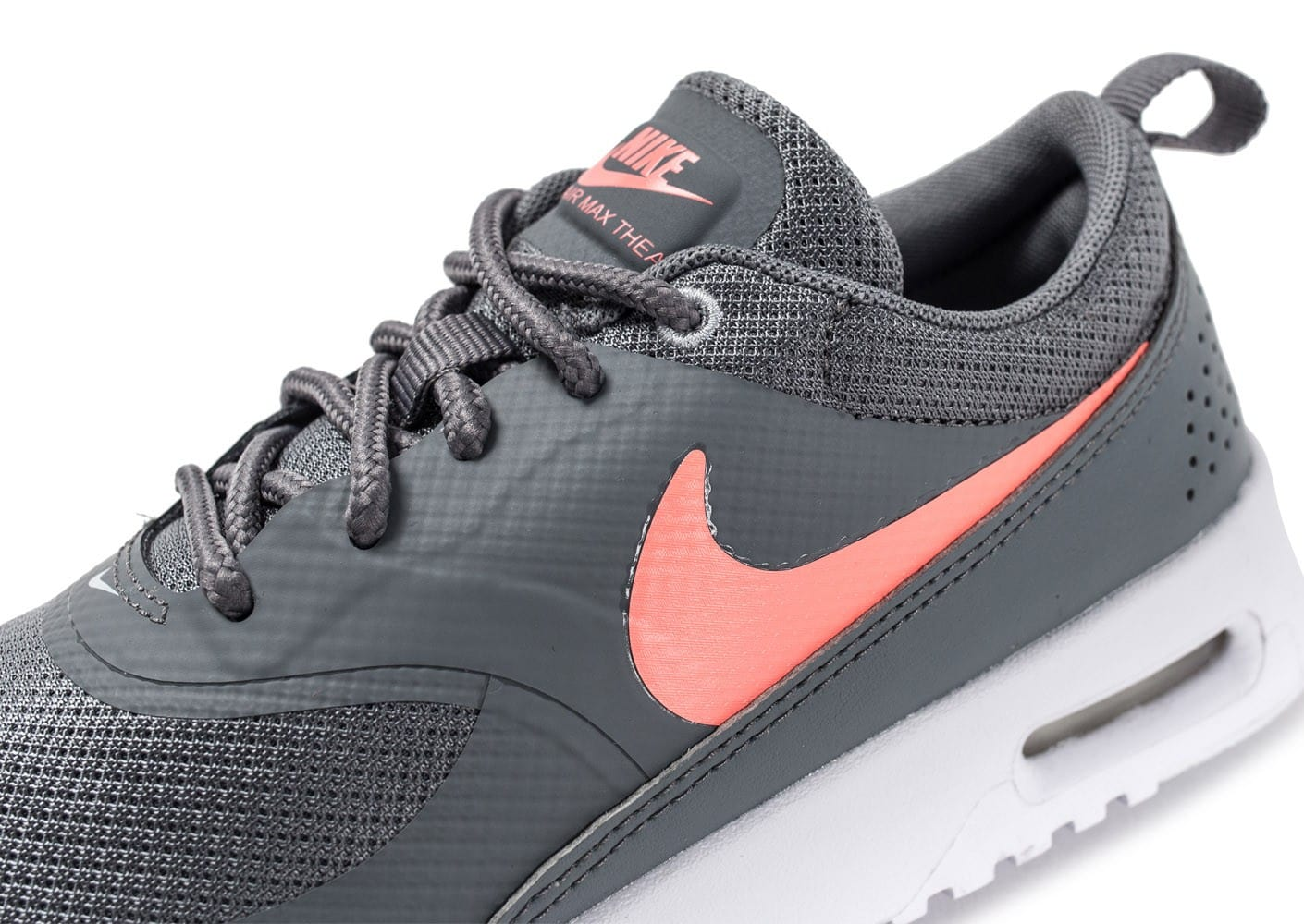 nike air max thea enfant grise et rose chaussures enfant chausport. Black Bedroom Furniture Sets. Home Design Ideas