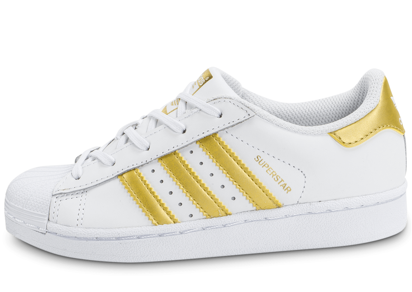 60cd1851ed6a superstar femme white gold Adidas ...