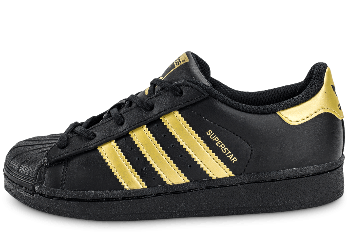 superstar adidas noir et or