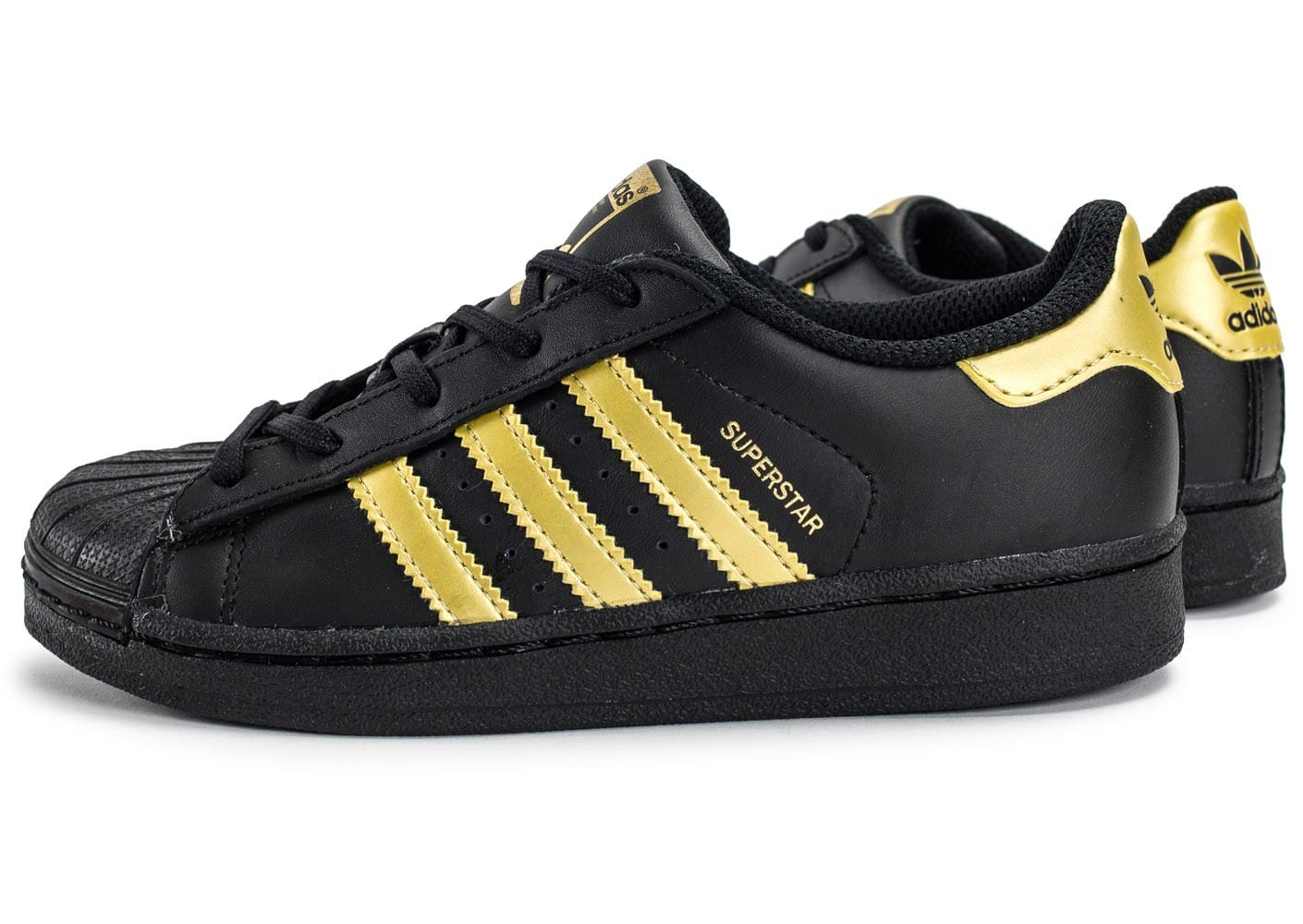 adidas superstar enfant black gold chaussures adidas chausport. Black Bedroom Furniture Sets. Home Design Ideas