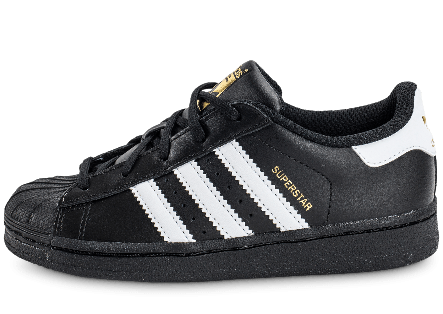 adidas superstar foundation enfant noire et blanche chaussures adidas chausport. Black Bedroom Furniture Sets. Home Design Ideas