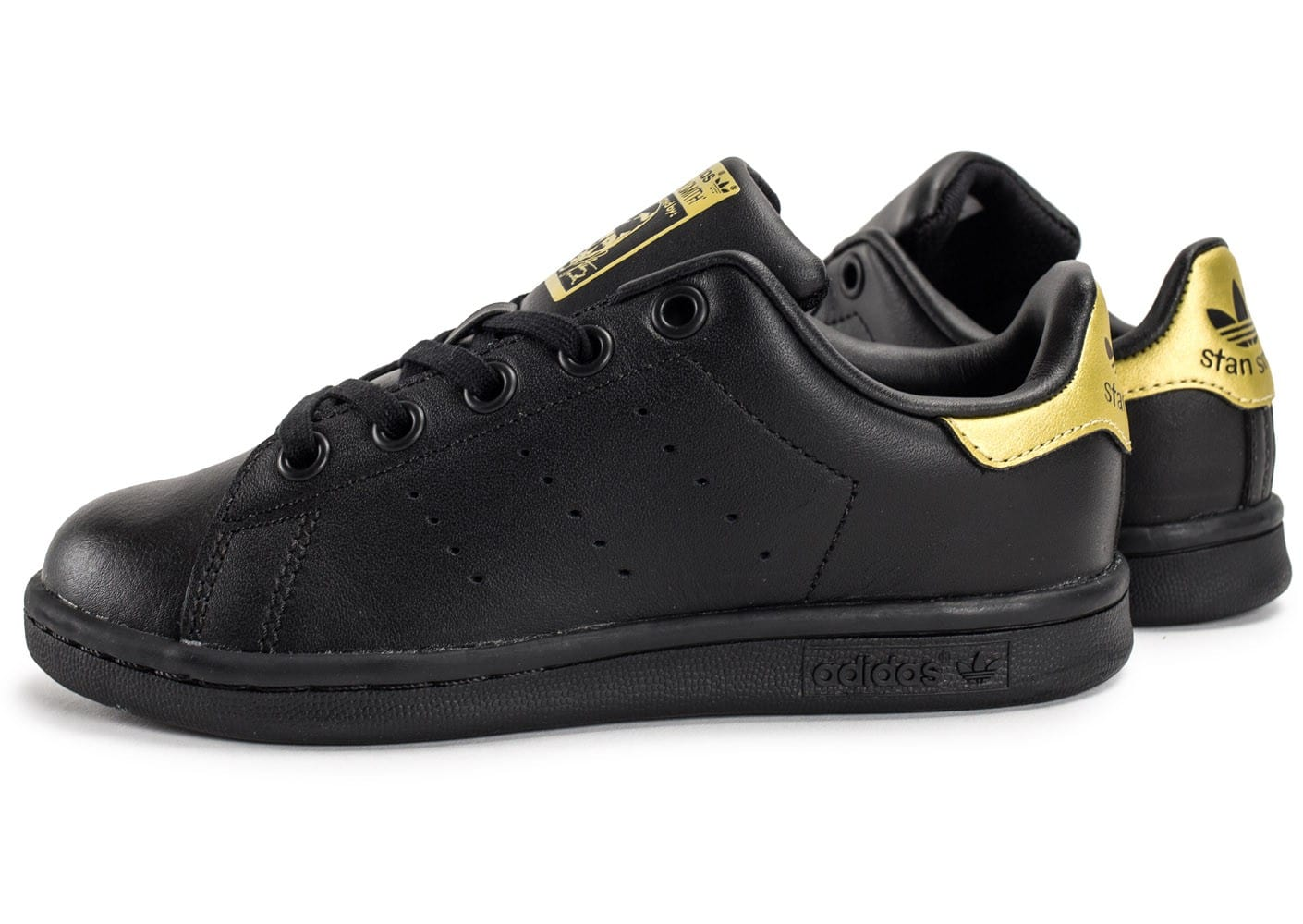 adidas stan smith enfant noire et or chaussures adidas chausport. Black Bedroom Furniture Sets. Home Design Ideas