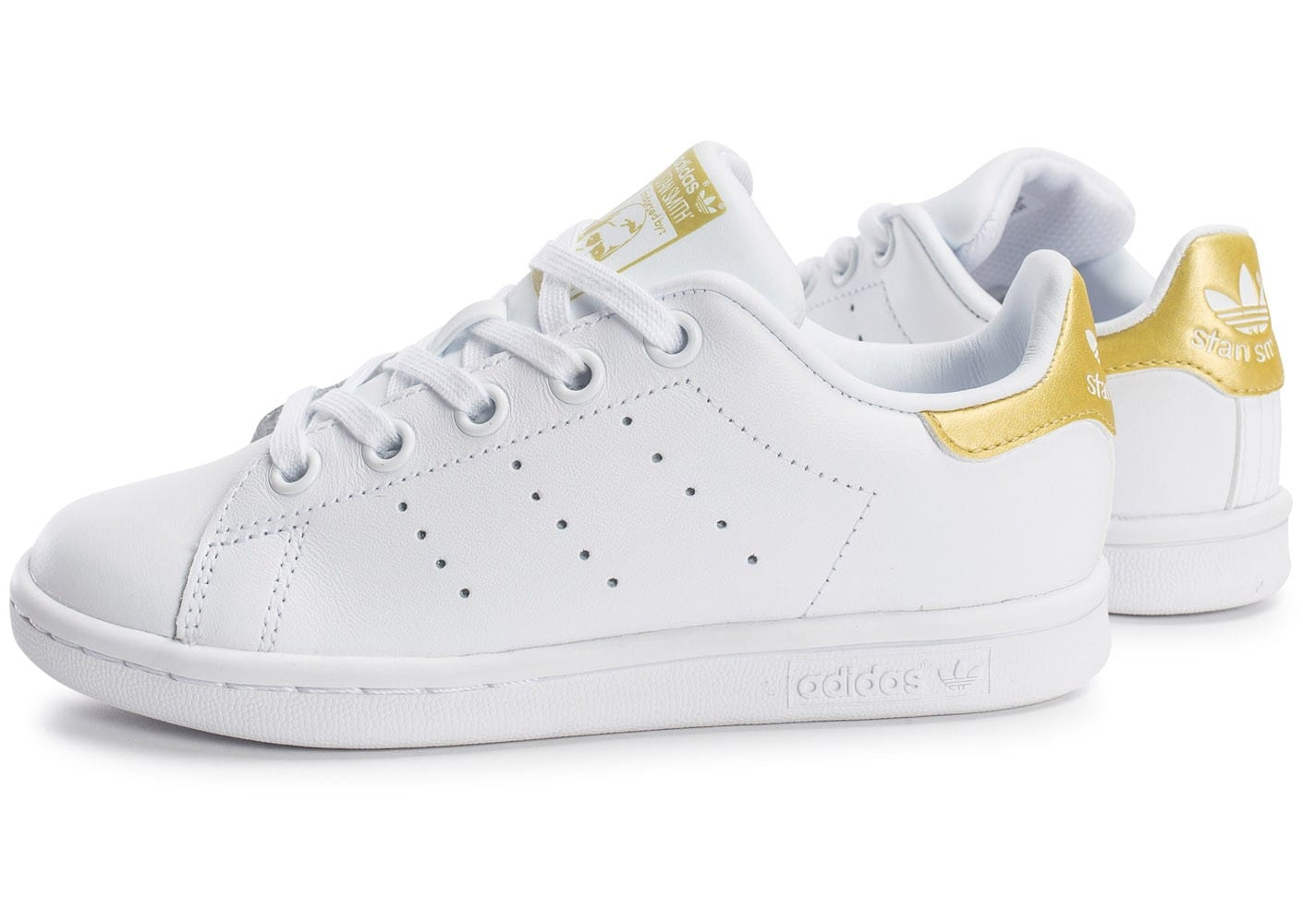 adidas stan smith enfant blanche et or chaussures adidas chausport. Black Bedroom Furniture Sets. Home Design Ideas