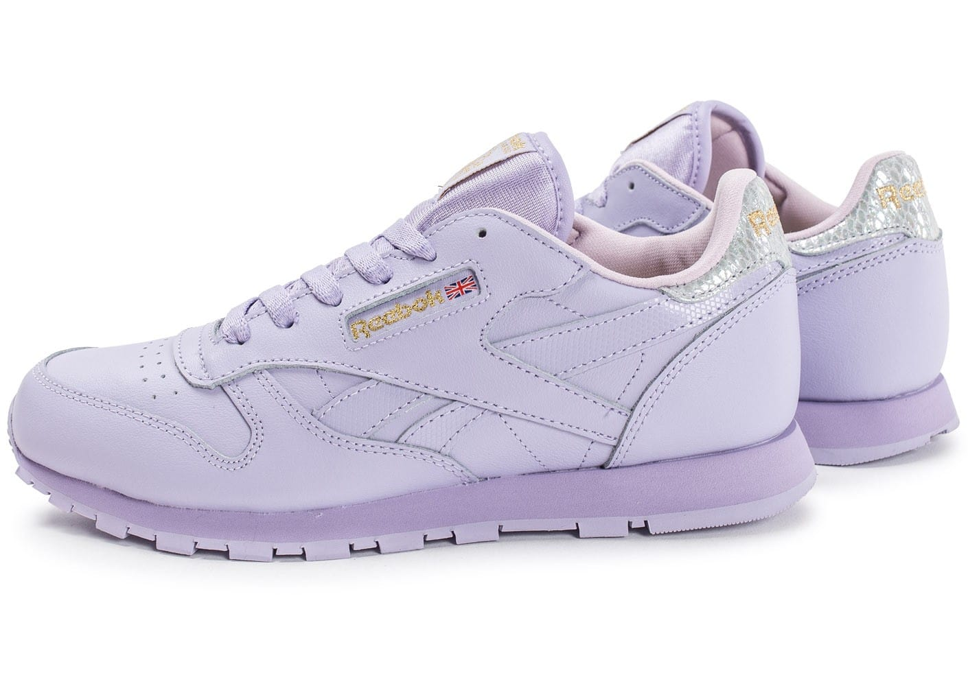 reebok classic leather metallic mauve chaussures chaussures chausport. Black Bedroom Furniture Sets. Home Design Ideas