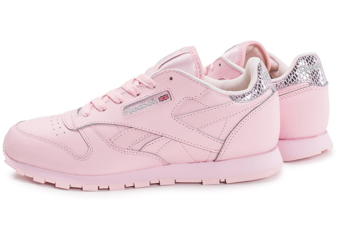 reebok classic leather metallic rose chaussures femme chausport. Black Bedroom Furniture Sets. Home Design Ideas