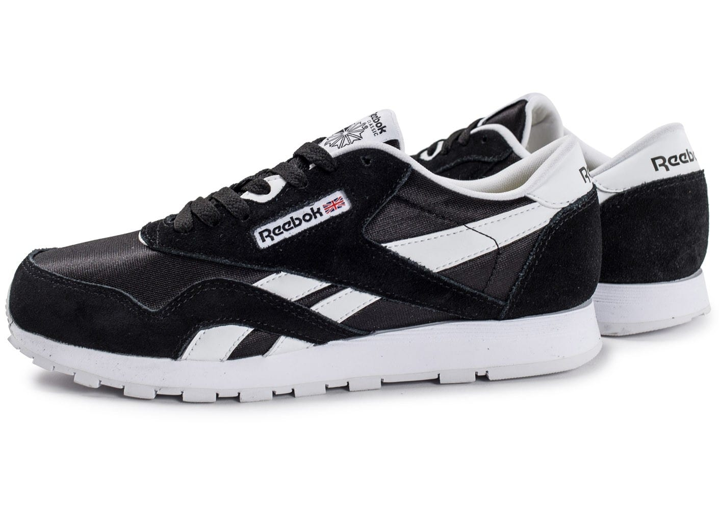 reebok classic nylon junior noire et blanche chaussures. Black Bedroom Furniture Sets. Home Design Ideas