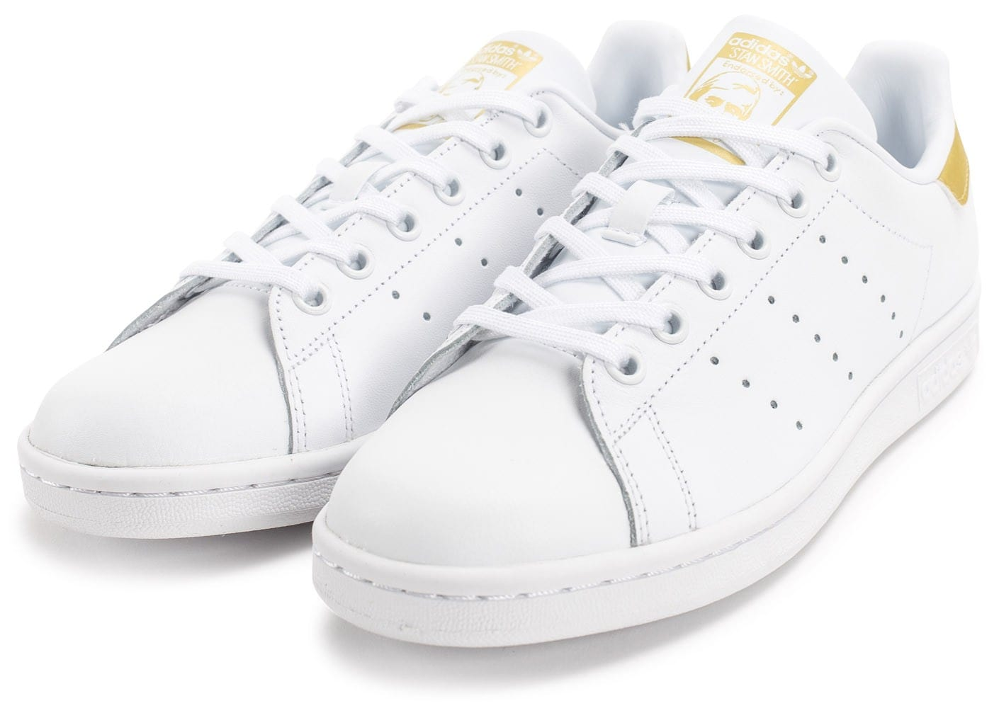 adidas stan smith blanc doré