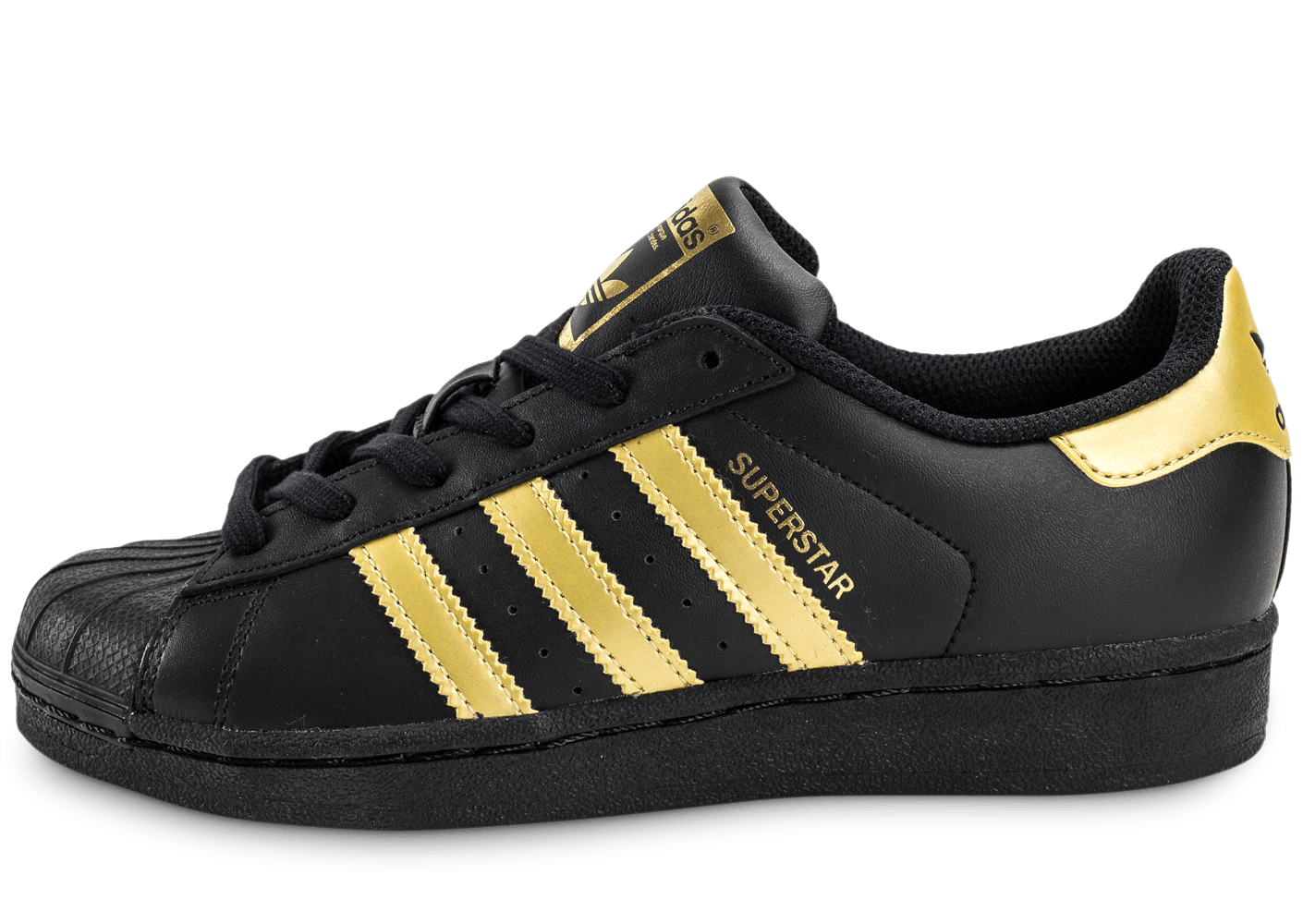 adidas superstar junior black gold chaussures adidas chausport. Black Bedroom Furniture Sets. Home Design Ideas