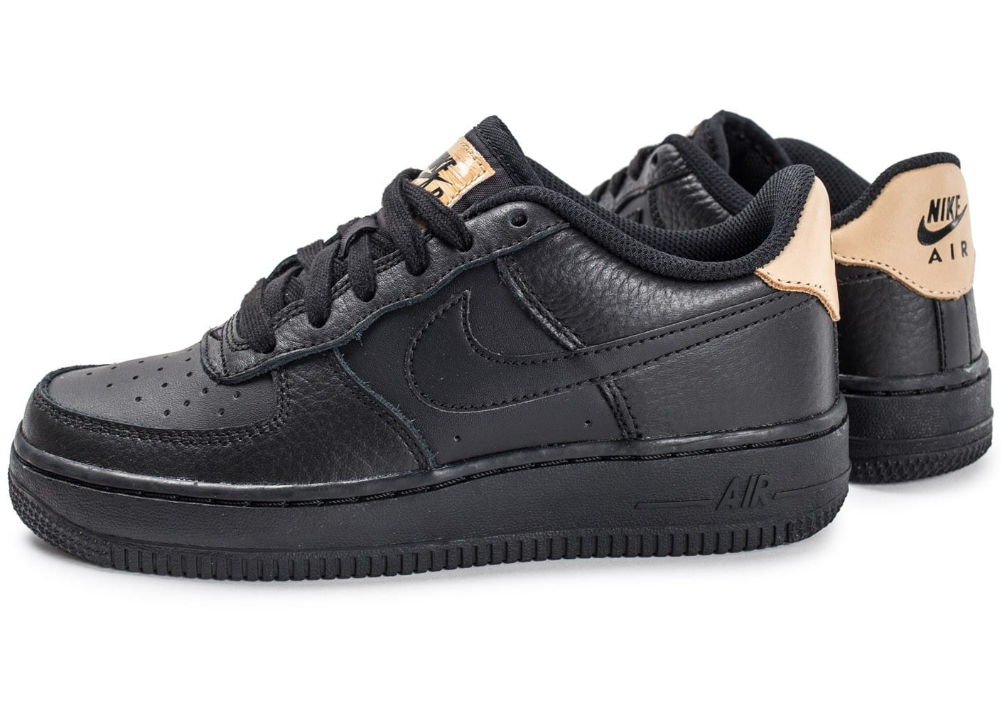 nike air force 1 39 07 lv08 junior black vachetta. Black Bedroom Furniture Sets. Home Design Ideas