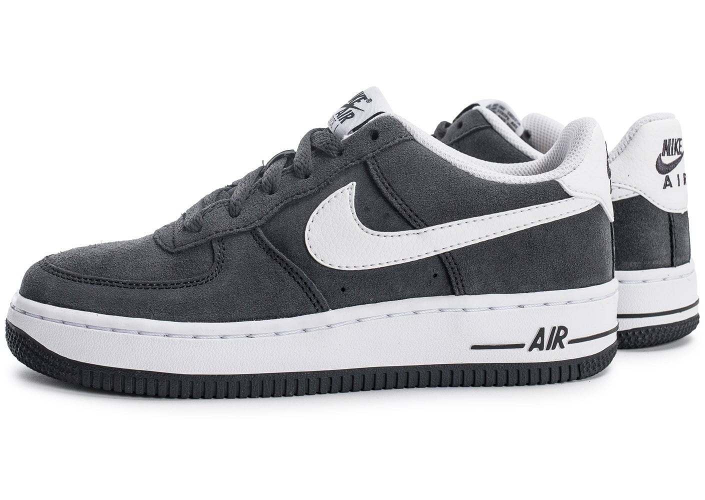 nike air force 1 suede junior grise chaussures toutes les baskets sold es chausport. Black Bedroom Furniture Sets. Home Design Ideas