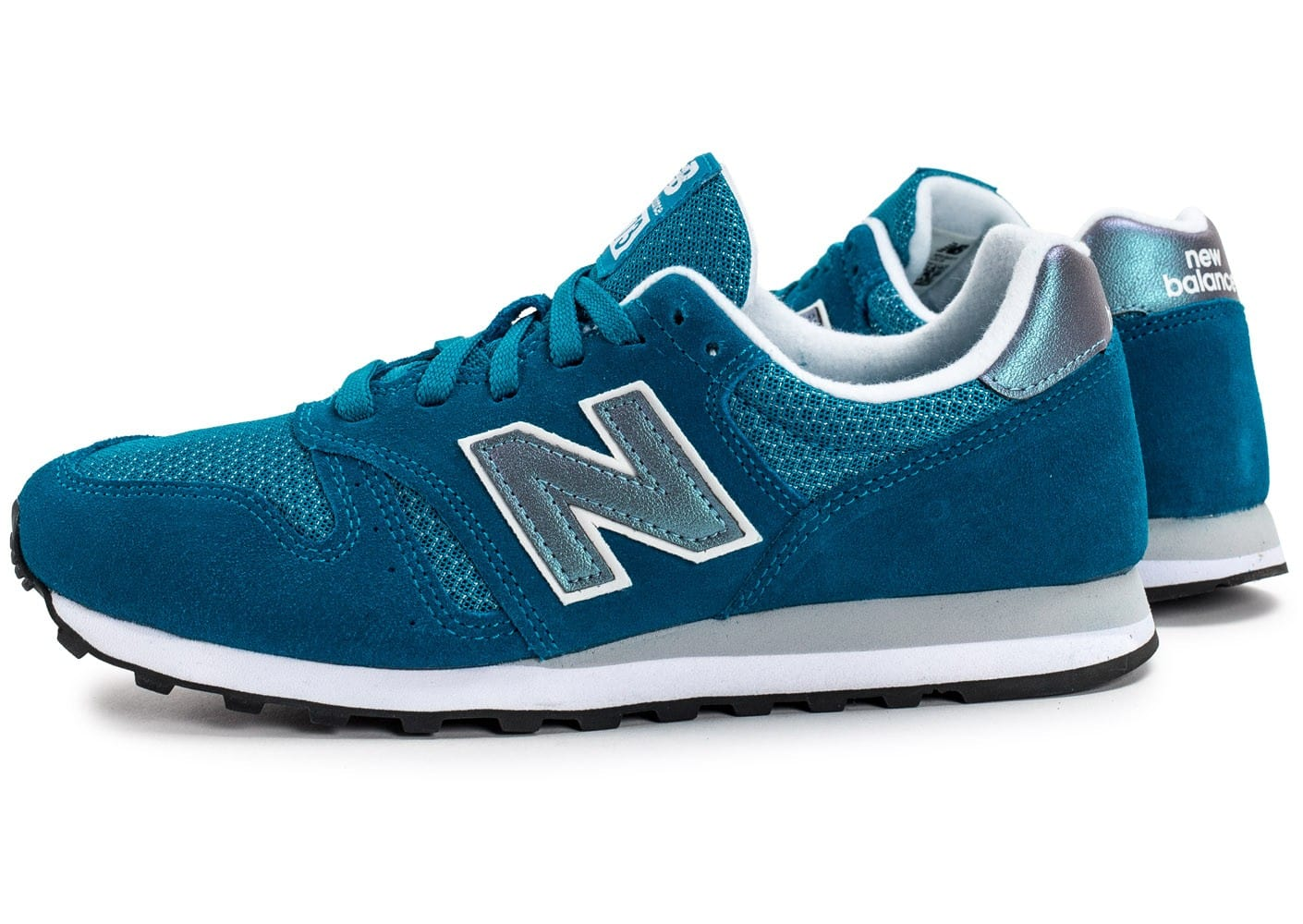 new balance wl373 gi suede turquoise chaussures femme chausport. Black Bedroom Furniture Sets. Home Design Ideas