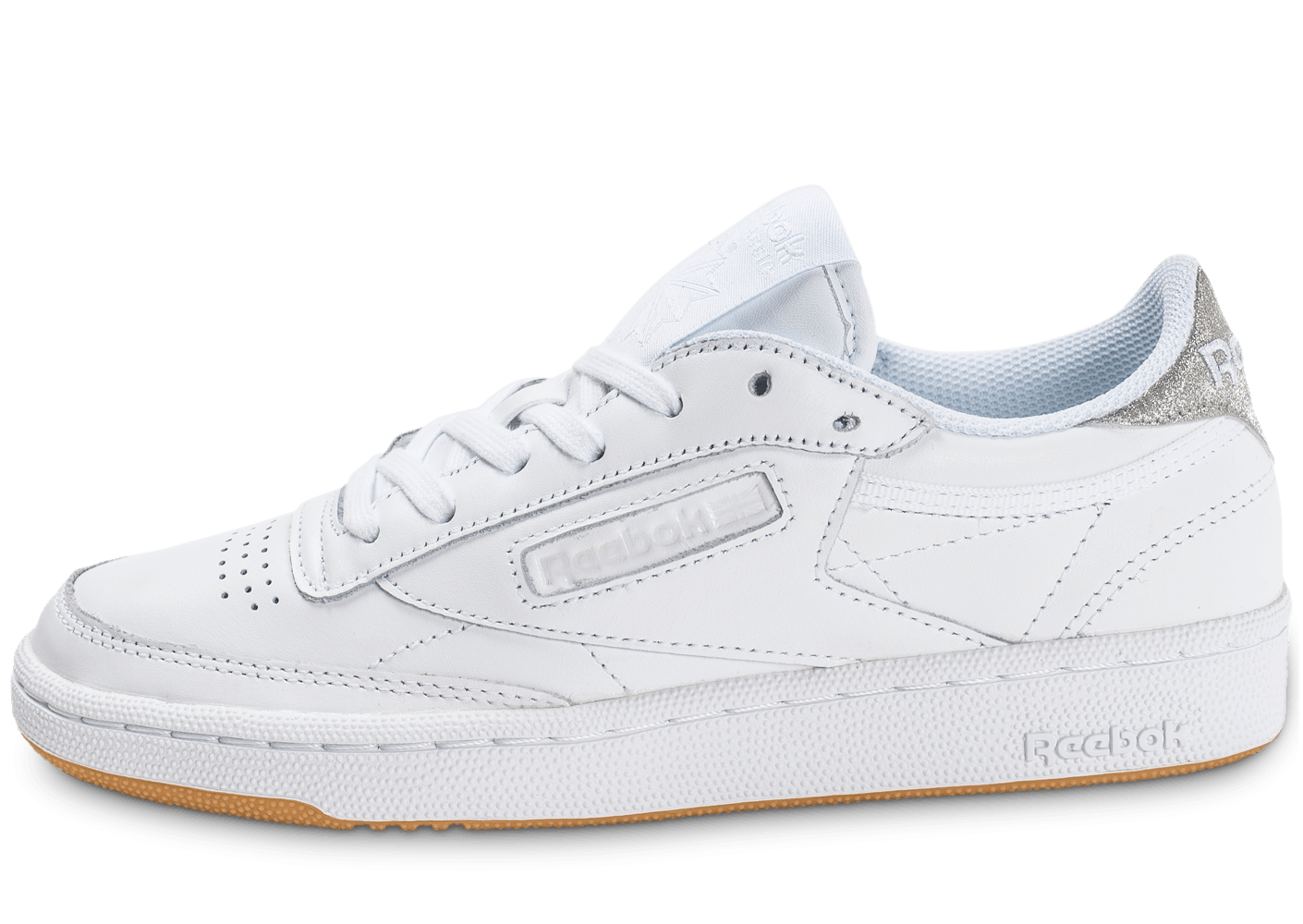 reebok club c 85 diamond blanche chaussures femme chausport. Black Bedroom Furniture Sets. Home Design Ideas