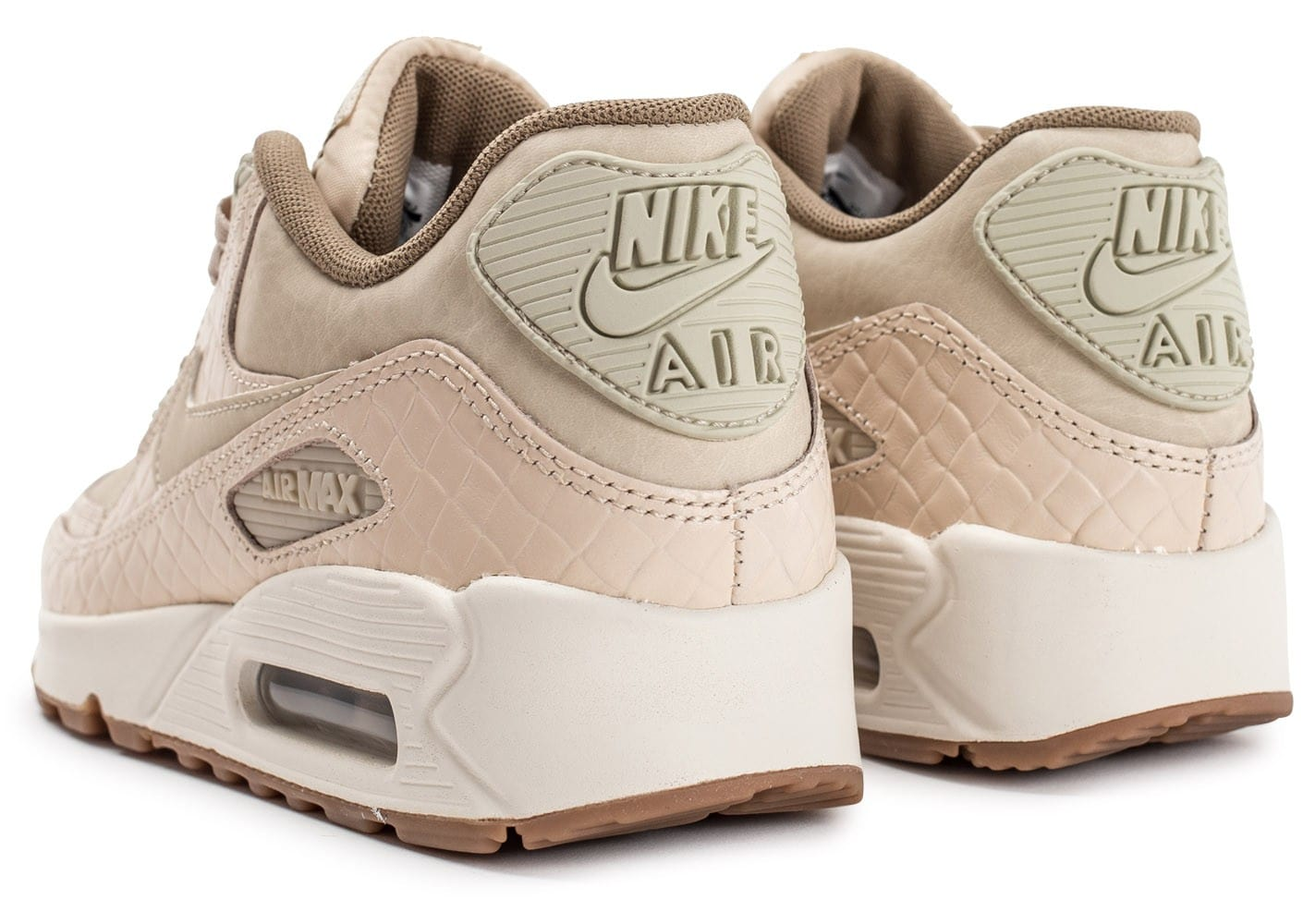 nike air max 90 premium beige chaussures femme chausport. Black Bedroom Furniture Sets. Home Design Ideas