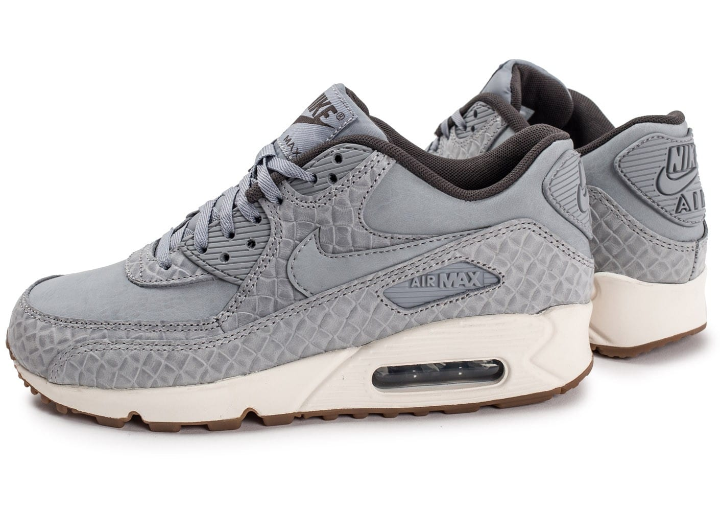 quality design 23b48 29be5 ... chaussures nike air max 90 premium grise vue par paire
