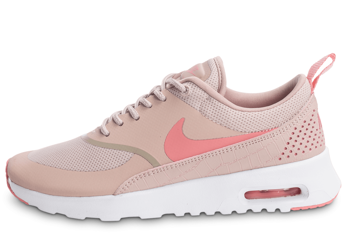 nike air max thea w rose et blanche chaussures 50 sur le 2e article chausport. Black Bedroom Furniture Sets. Home Design Ideas