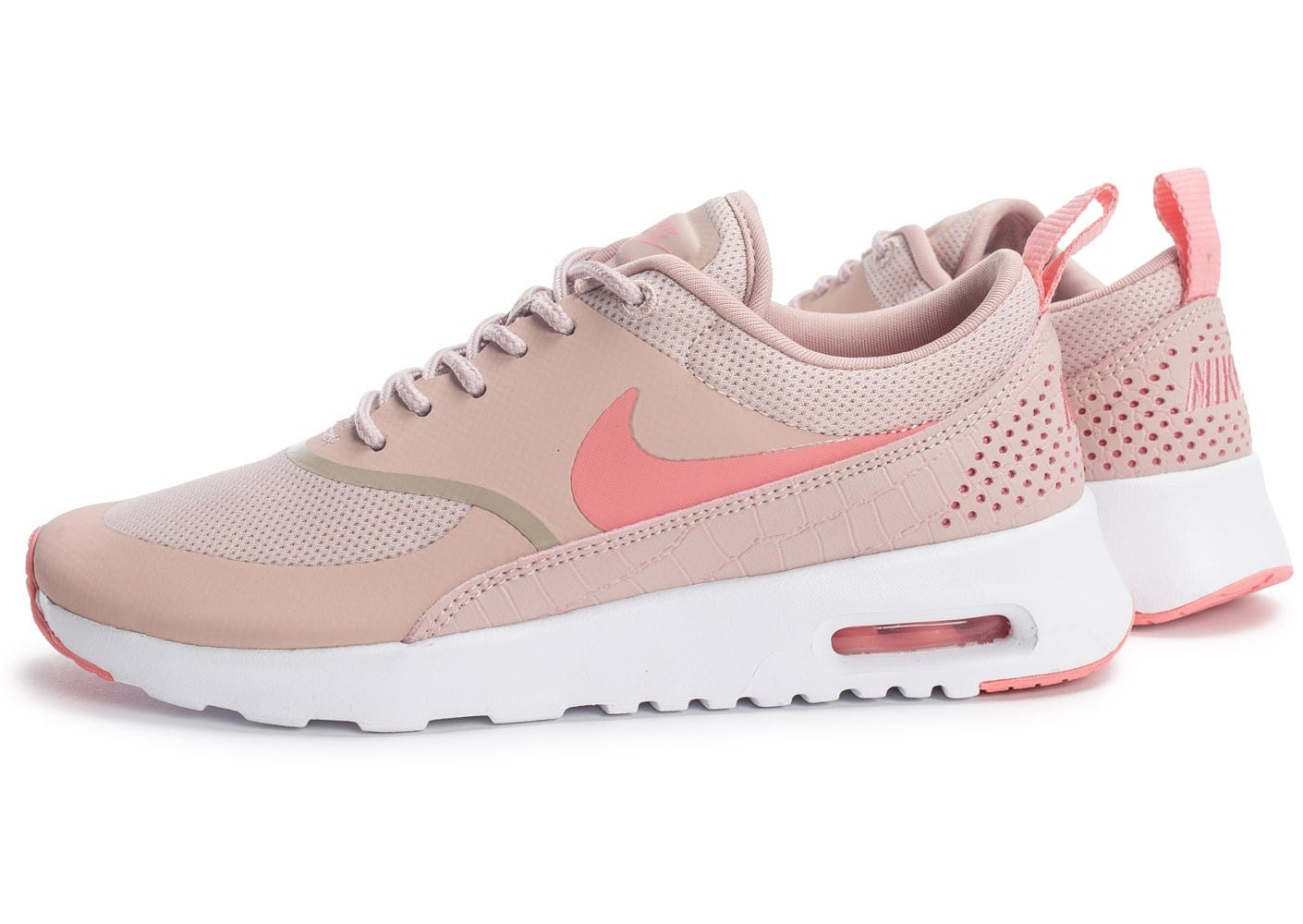 nike air max thea w rose et blanche chaussures black friday chausport. Black Bedroom Furniture Sets. Home Design Ideas