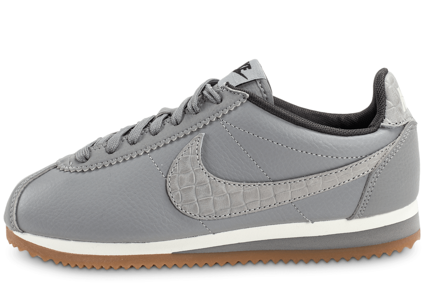 nike classic cortez leather lux grise chaussures pour lyc ens chausport. Black Bedroom Furniture Sets. Home Design Ideas