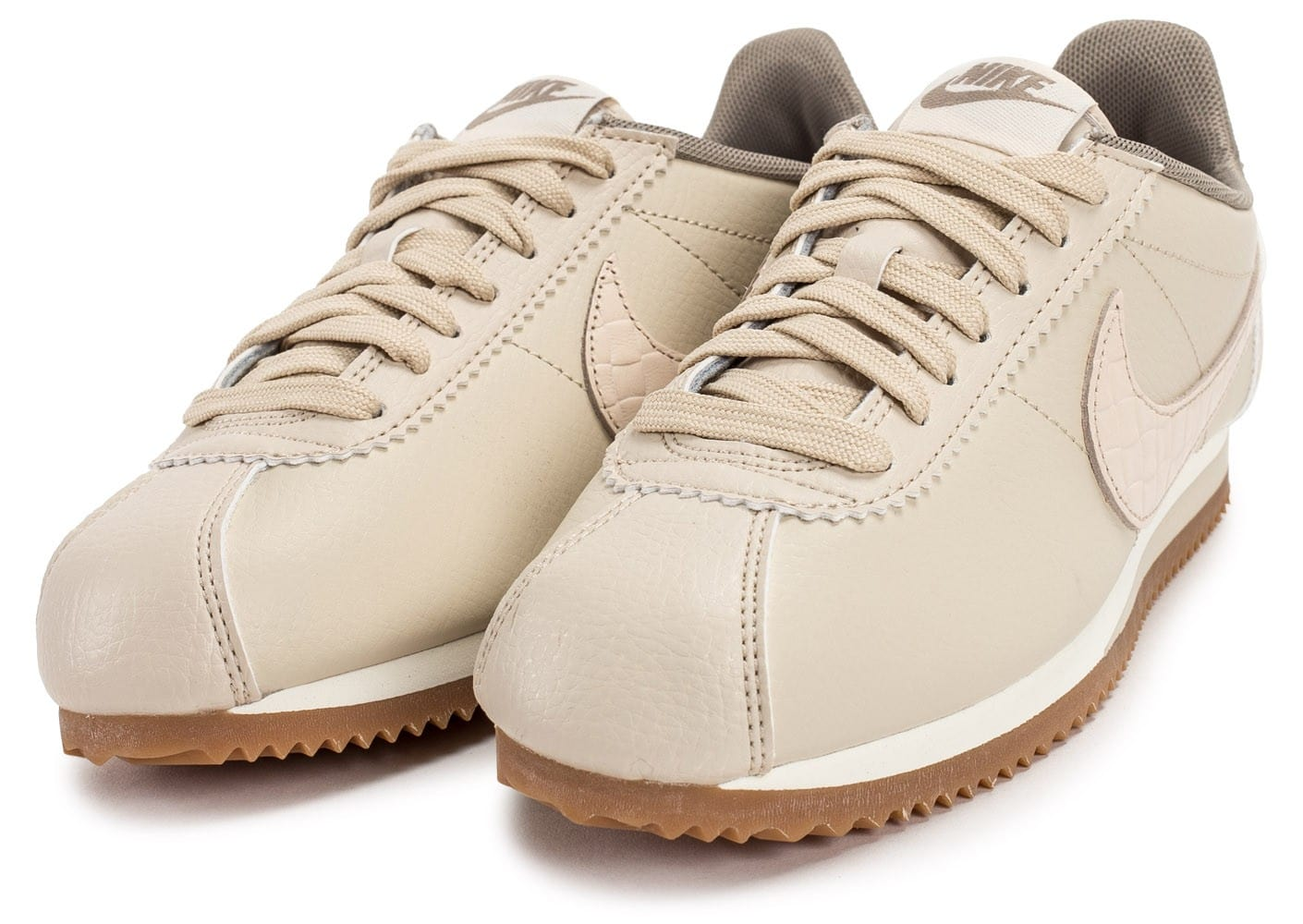 nike classic cortez leather lux beige chaussures pour. Black Bedroom Furniture Sets. Home Design Ideas