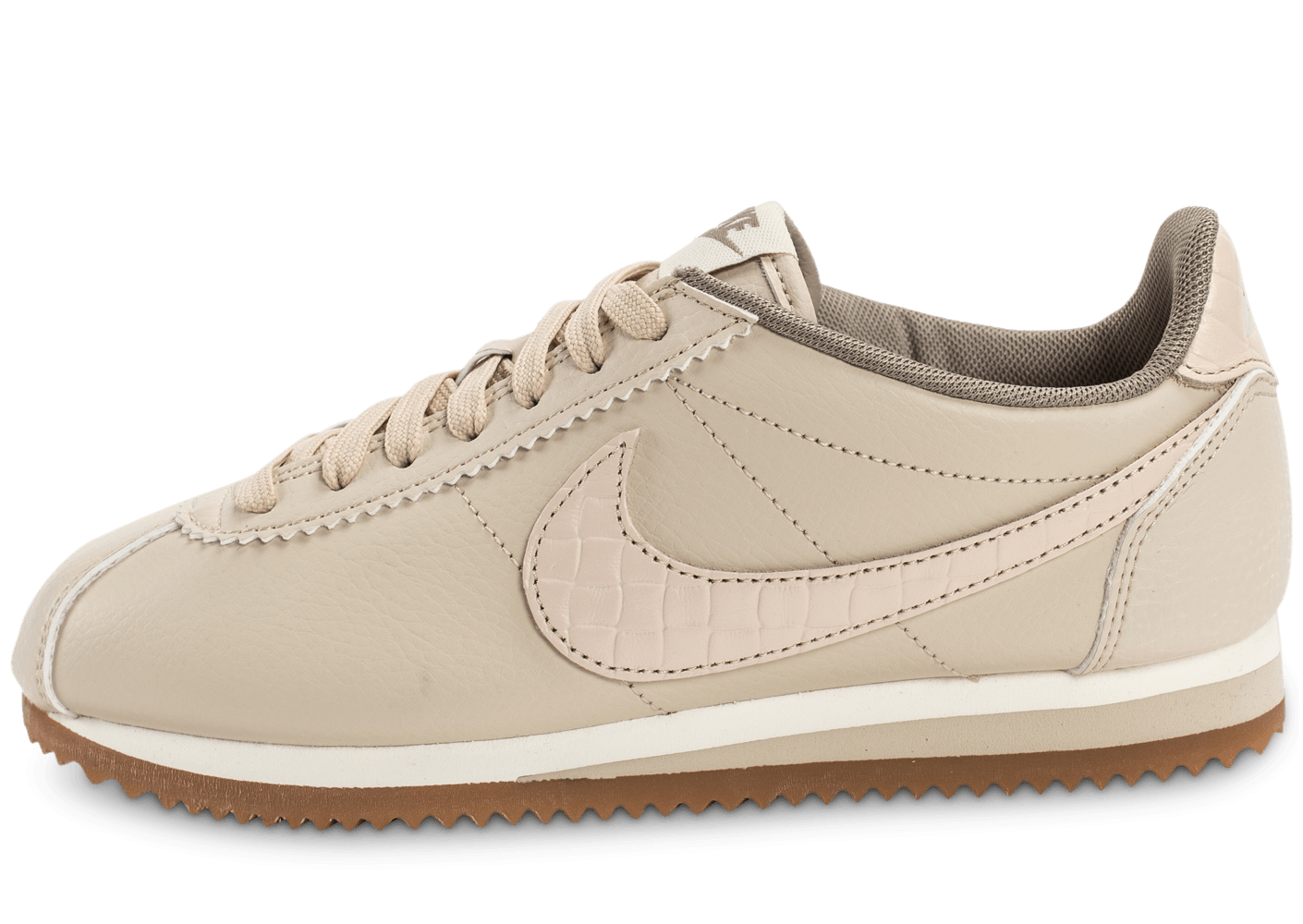 nike classic cortez leather lux beige chaussures pour lyc ens chausport. Black Bedroom Furniture Sets. Home Design Ideas