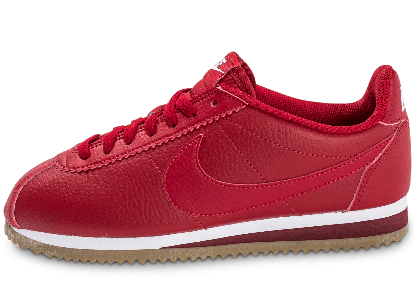 nike cortez leather w rouge chaussures femme chausport. Black Bedroom Furniture Sets. Home Design Ideas