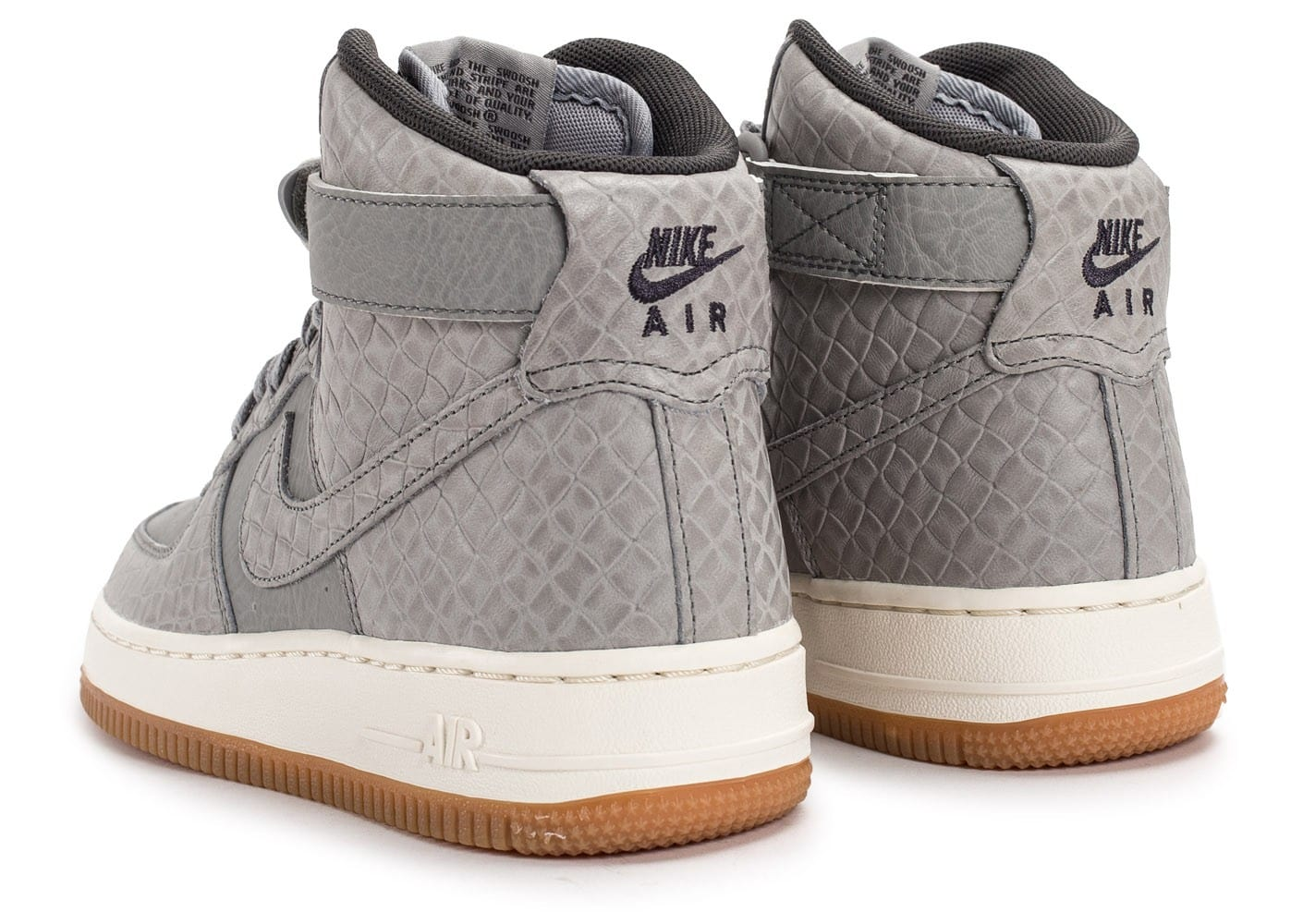 nike air force 1 hi premium grise chaussures femme chausport. Black Bedroom Furniture Sets. Home Design Ideas
