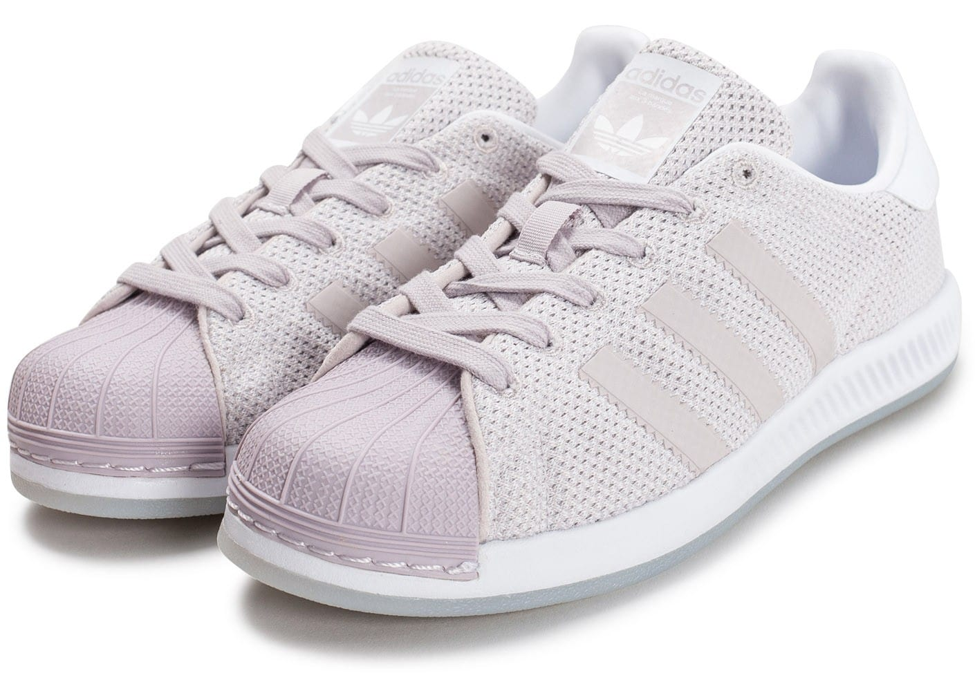 low priced debf8 fbe32 adidas Superstar W Bounce mauve - Chaussures adidas .