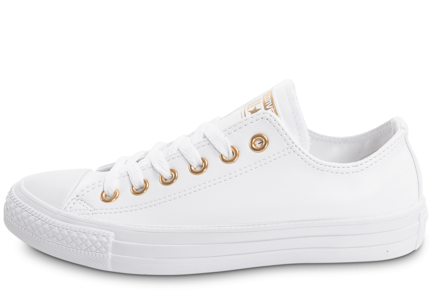 converse chuck taylor all star ox blanche et or chaussures black friday chausport. Black Bedroom Furniture Sets. Home Design Ideas
