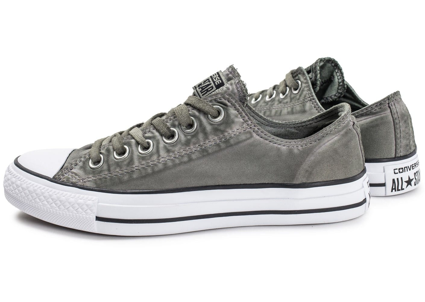 converse chuck taylor all star ox low kaki chaussures baskets femme chausport. Black Bedroom Furniture Sets. Home Design Ideas