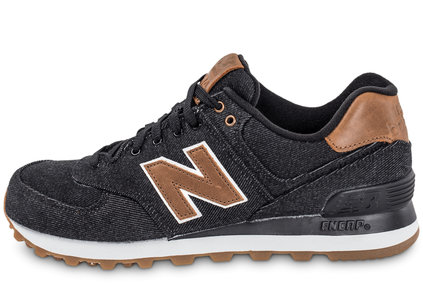 new balance ml574txa denim noire et marron chaussures homme chausport. Black Bedroom Furniture Sets. Home Design Ideas
