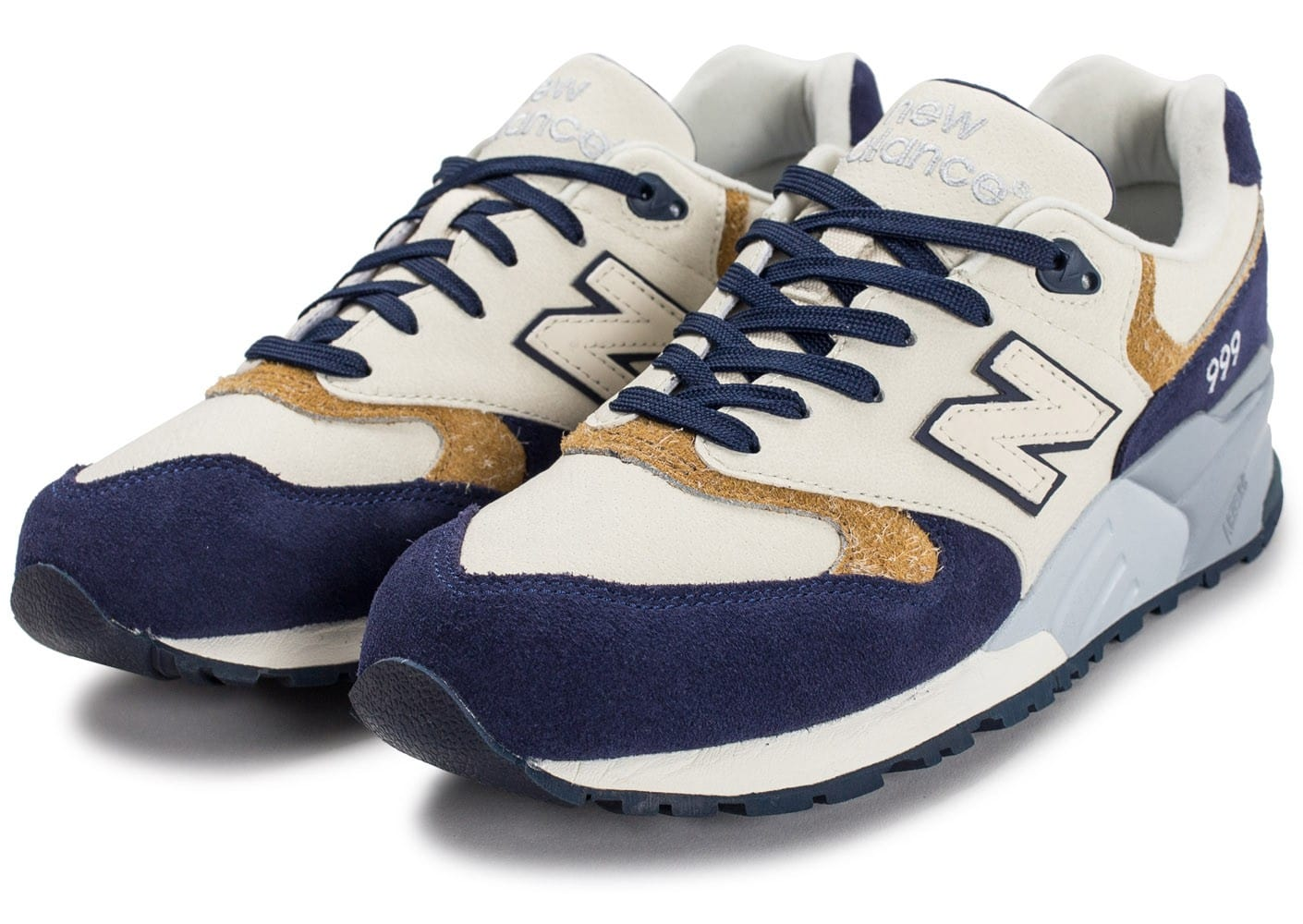 new balance ml999 na beige et bleu marine chaussures homme chausport. Black Bedroom Furniture Sets. Home Design Ideas