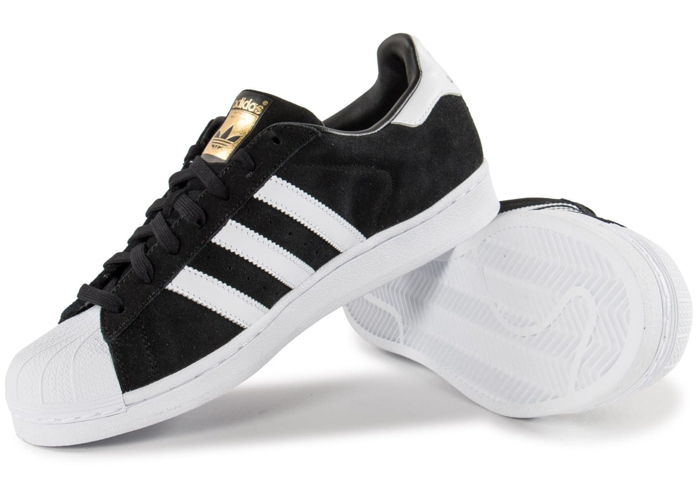 adidas superstar suede noir,Adidas Originals Superstar Suede Noir Or