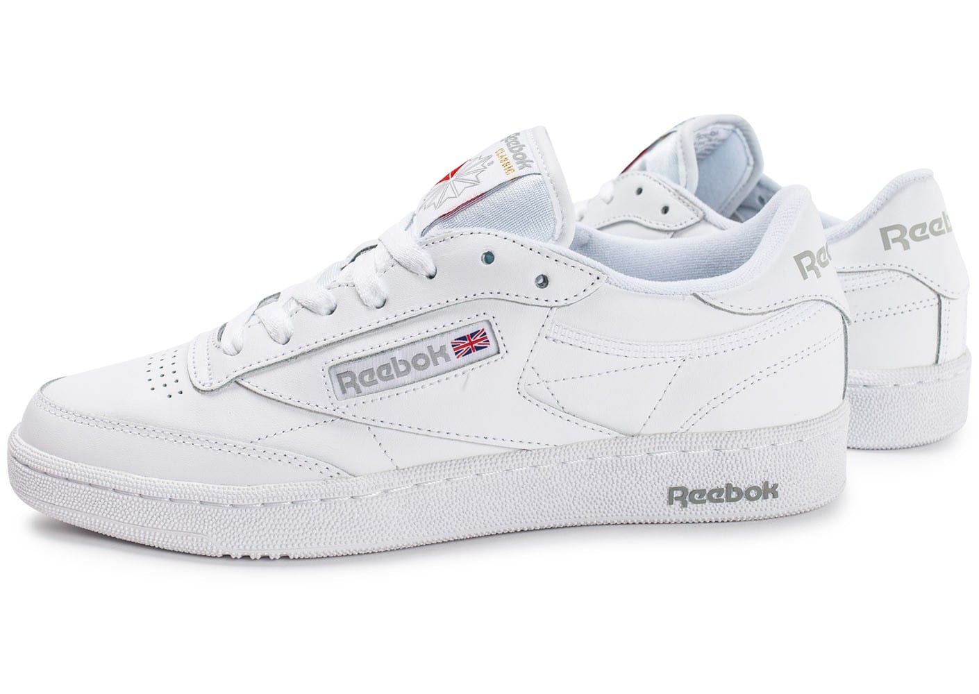 reebok club c 85 blanche chaussures homme chausport. Black Bedroom Furniture Sets. Home Design Ideas