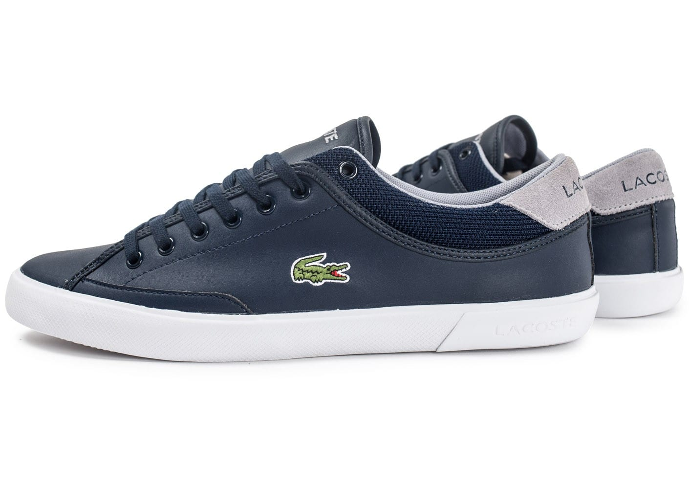 lacoste angha leather bleu marine chaussures homme chausport. Black Bedroom Furniture Sets. Home Design Ideas