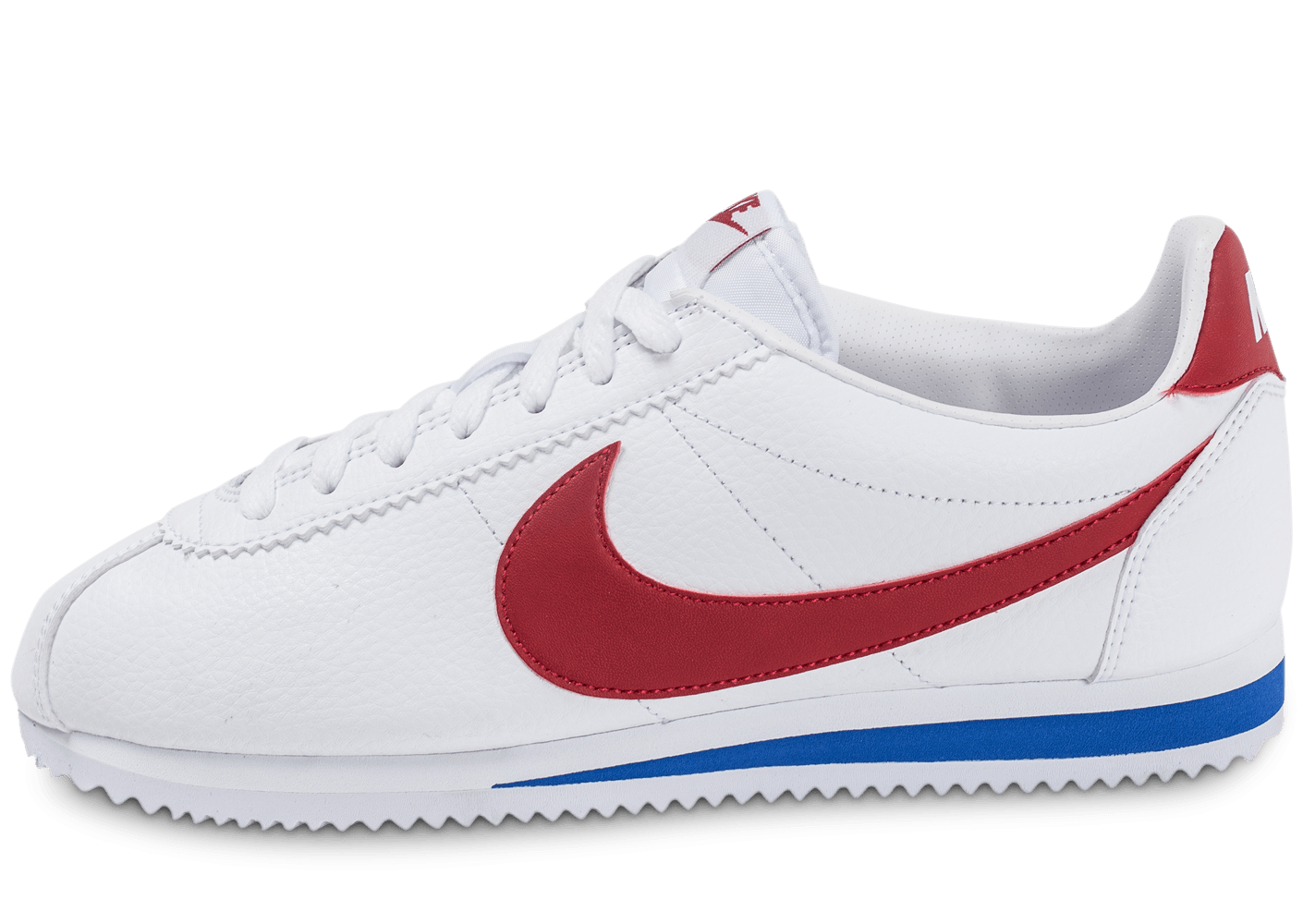 nike cortez leather blanche rouge et bleue chaussures baskets homme chausport. Black Bedroom Furniture Sets. Home Design Ideas