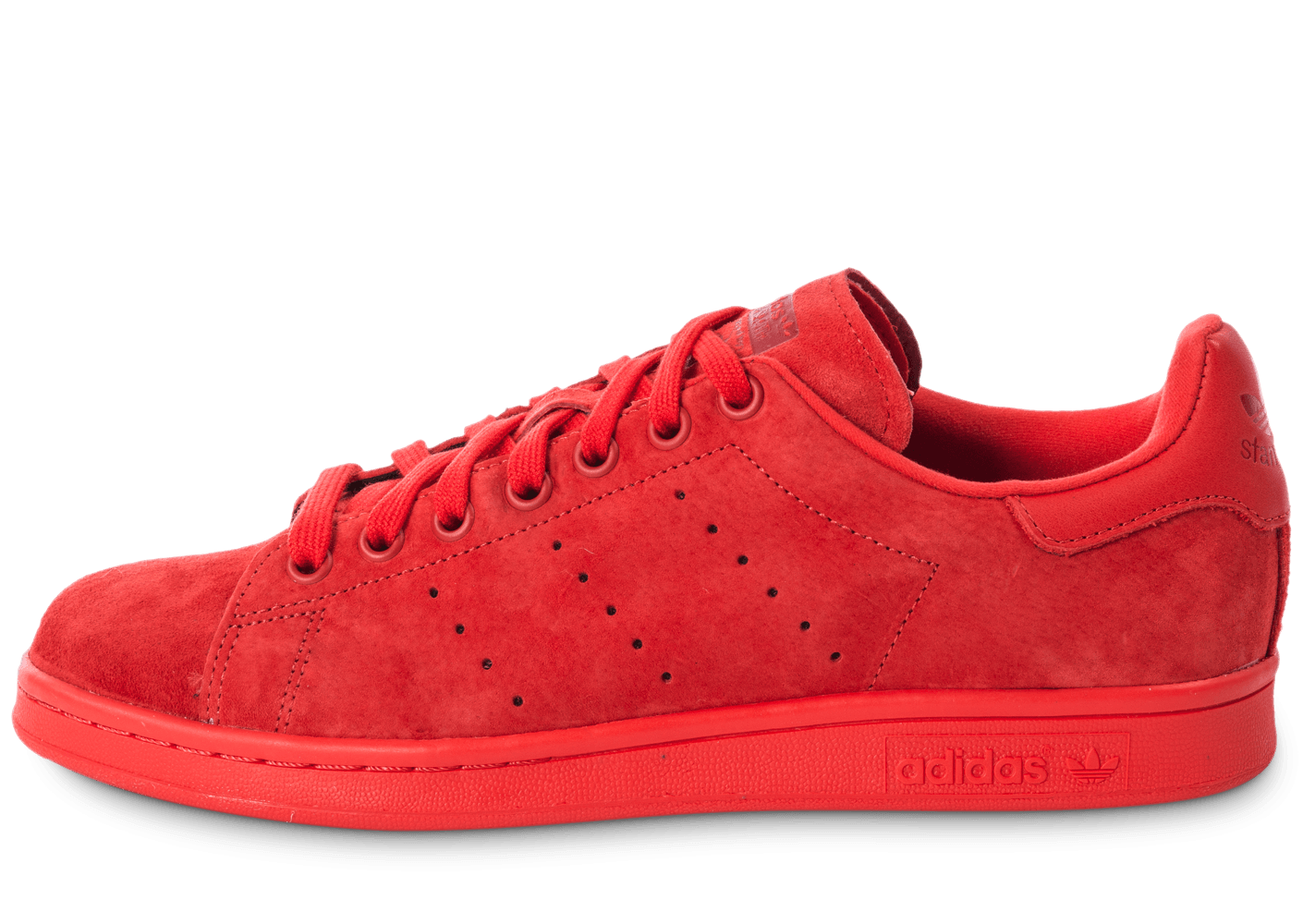 adidas stan smith suede monochrome rouge chaussures homme chausport. Black Bedroom Furniture Sets. Home Design Ideas