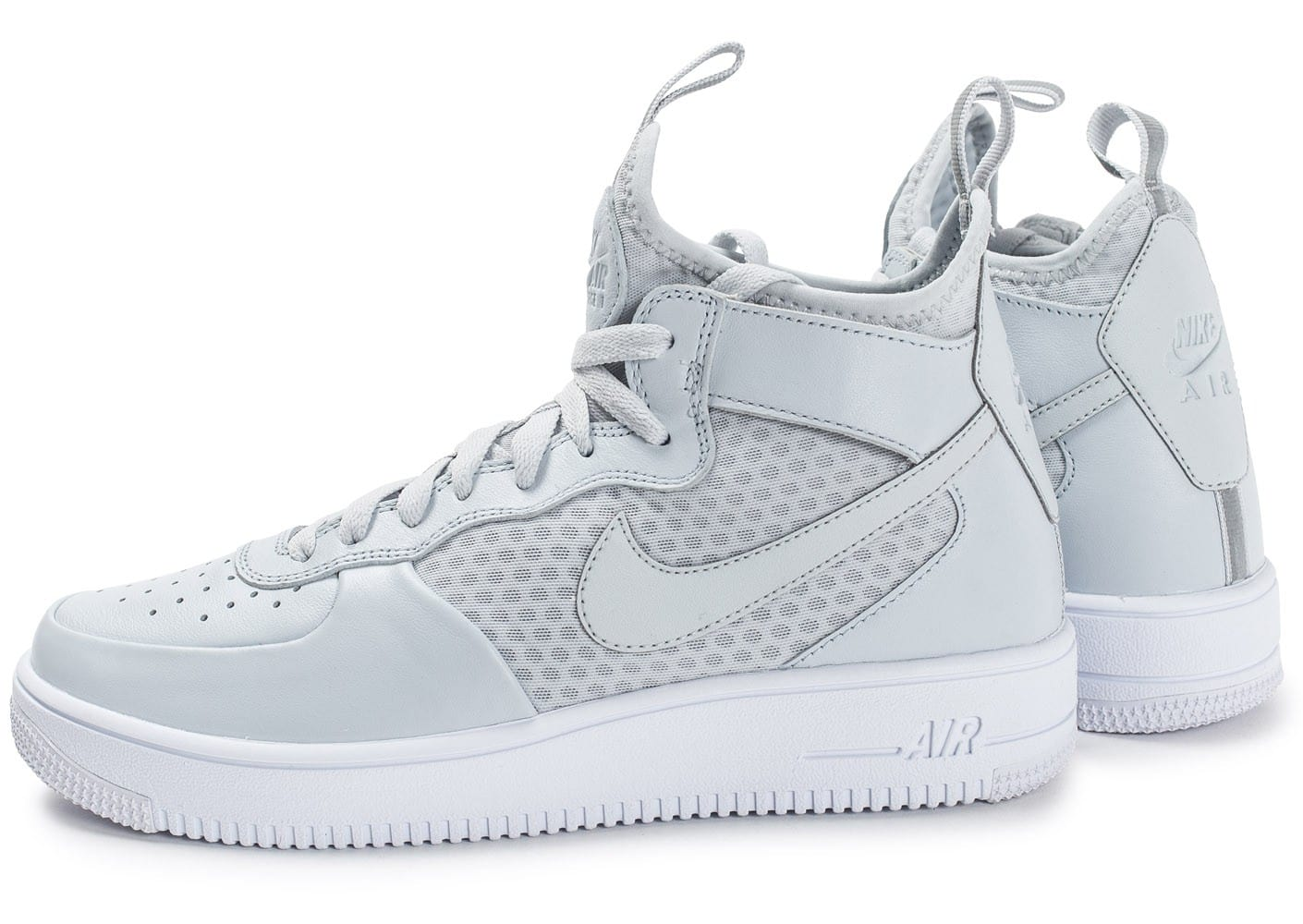 nike air force 1 ultraforce mid grise chaussures homme chausport. Black Bedroom Furniture Sets. Home Design Ideas